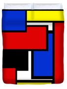 Partridge Family Abstract 1 C Square Duvet Cover