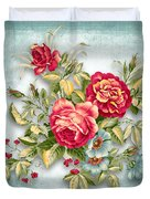 Party Of Flowers  Duvet Cover