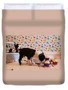 Party On Puppy Duvet Cover