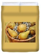 Party Pears Duvet Cover by Andee Design