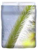 Pasqueflower Stem  Duvet Cover