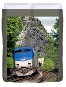 Passenger Train Locomotive Duvet Cover