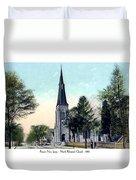 Passiac New Jersey - Norht Reformed Church - 1910 Duvet Cover