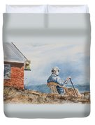 Passing Time Duvet Cover by Monte Toon