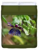 Passion Flower - Ruby Glow Duvet Cover