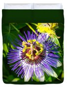 Passion Fruit Flower Duvet Cover