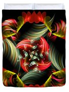 Passionate Love Bouquet Abstract Duvet Cover
