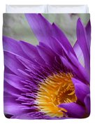Passionate Purple Water Lily Duvet Cover