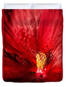 Passionate Ruby Red Silk Duvet Cover