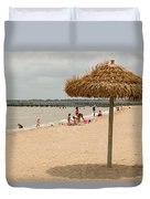 Past Midday Port Lavaca Beach Duvet Cover