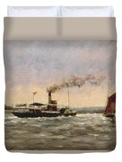 Past On The Medway Duvet Cover