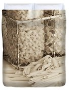 Pasta Sepia Toned Duvet Cover by Edward Fielding