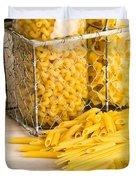 Pasta Shapes Still Life Duvet Cover