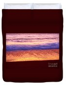 Pastel - Abstract Waves Rolling In During Sunset. Duvet Cover