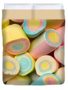 Pastel Colored Marshmallows Duvet Cover