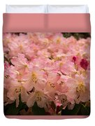 Pastel Coral Azaleas Refreshed By The Rains Duvet Cover
