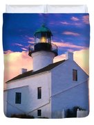Pastel Drawing Old Point Loma Lighthouse Cabrillo National Monument California Duvet Cover