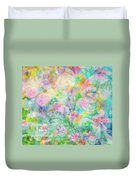 Pastel Flowers By Jan Marvin Duvet Cover