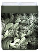 Pastel Garden Abstract Duvet Cover