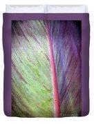 Pastel Leaf Detail Duvet Cover