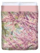 Pastel Pink Flowers Of Redbud Tree In Springtime  Duvet Cover by Lisa Russo