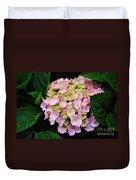 Pastel Pink Hydrangea Duvet Cover