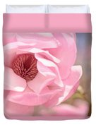 Pastel Pink Petals And Paint Duvet Cover