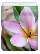 Pastel Pink Plumeria Duvet Cover