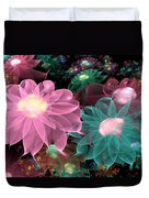 Pastel Posies Duvet Cover by Peggi Wolfe