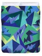 Pastel Pyramids Duvet Cover