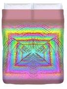Pastel Rainbow Reverberations Duvet Cover