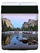 Pastel - Sunset View Of Yosemite National Park. Duvet Cover