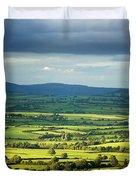 Pastoral Fields, Near Clonea, County Duvet Cover