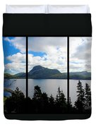 Pastoral Scene By The Ocean Triptych Duvet Cover