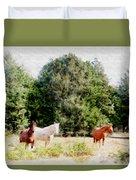 Pasture For Three Duvet Cover