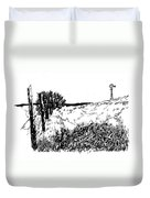 Pasture  Duvet Cover by Jean Ann Curry Hess
