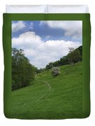 Pasture Land At Ashford-in-the-water Duvet Cover