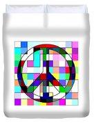 Patch Peace Duvet Cover