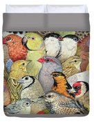Patchwork Birds Duvet Cover
