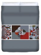 Patchwork Craze - Abstract - Triptych Duvet Cover