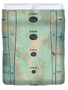 Patent Art Baseball Bat Duvet Cover