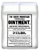 Patent Medicine Label, C1850 Duvet Cover