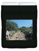 Path Among Olive Trees Duvet Cover