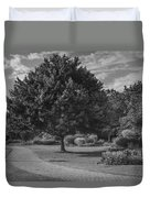 Path At Michigan State University Garden  Duvet Cover