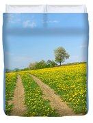 Path In Dandelion Meadow  Duvet Cover