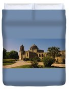 Path In Front Of A Church, Mission San Duvet Cover
