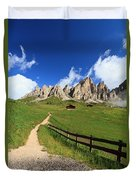 path in Gardena pass Duvet Cover