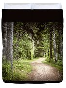 Path In Green Forest Duvet Cover by Elena Elisseeva
