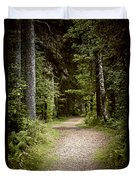 Path In Old Forest Duvet Cover
