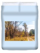 Path In The Forest Duvet Cover